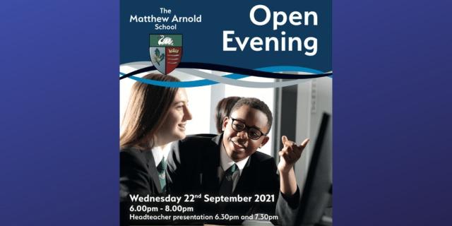 Open Evening Wednesday 22nd September